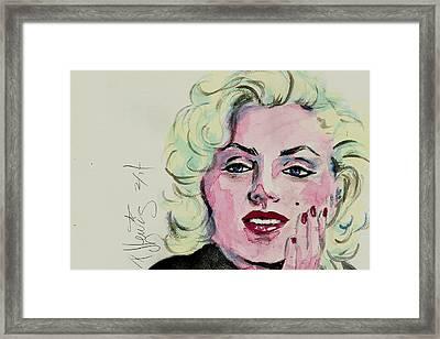 Ms Monroe Framed Print by P J Lewis