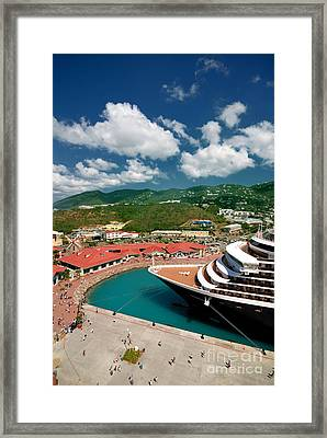 Ms Noordam St Thomas Virgin Islands Framed Print by Amy Cicconi