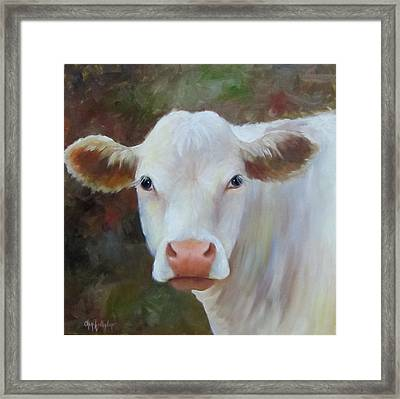 Framed Print featuring the painting Ms Petunia by Cheri Wollenberg