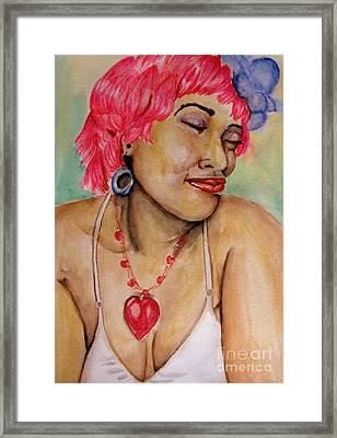 Ms Pink Framed Print