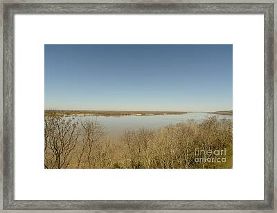 Ms River In Winter Framed Print by Russell Christie