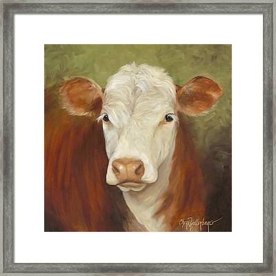 Ms Sophie - Cow Painting Framed Print