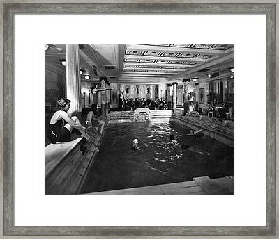 Ms Vulcania Indoor Pool Framed Print by Underwood Archives