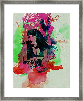 Ms Wallace Framed Print by Naxart Studio