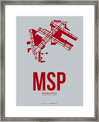 Msp Minneapolis Airport Poster 3 Framed Print
