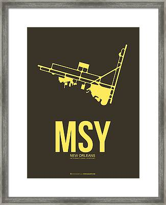 Msy New Orleans Airport Poster 3 Framed Print by Naxart Studio