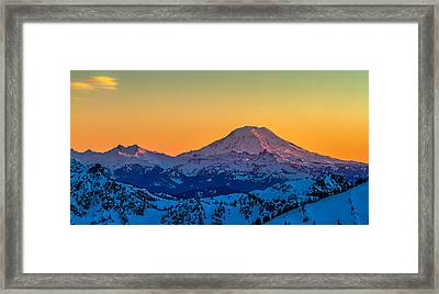 Mt Adams Sunset Review-2 Framed Print
