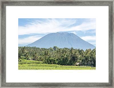 Mt Agung Framed Print