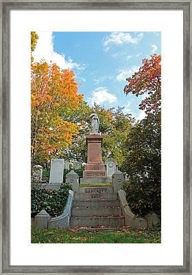 Mt Auburn Cemetery 1 Framed Print