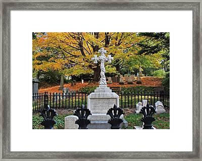 Mt Auburn Cemetery 11 Framed Print