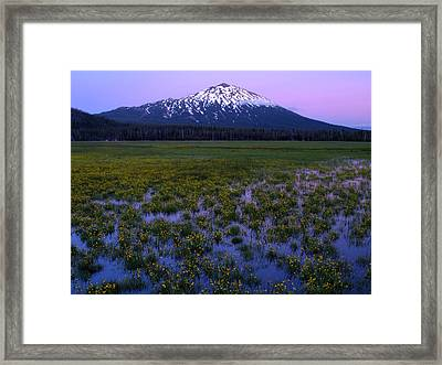 Mt. Bachelor Twilight Framed Print