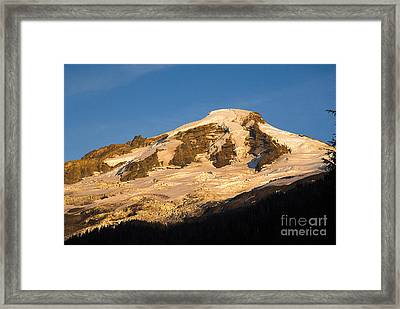 Framed Print featuring the photograph Mt.baker At Sunset  by Yulia Kazansky