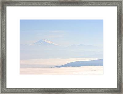 Mt. Baker From San Juan Islands Framed Print
