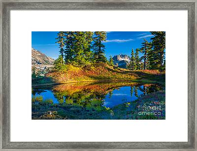 Mt Baker Tarn In Fall Framed Print