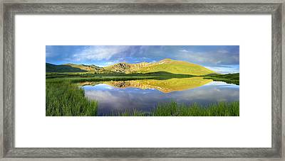 Mt Bierstadt From Guanella Pass Colorado Framed Print by Tim Fitzharris