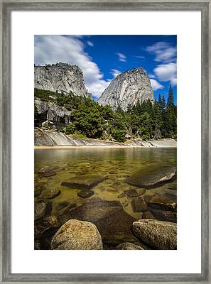 Mt. Broderick And Liberty Cap Framed Print by Mike Lee