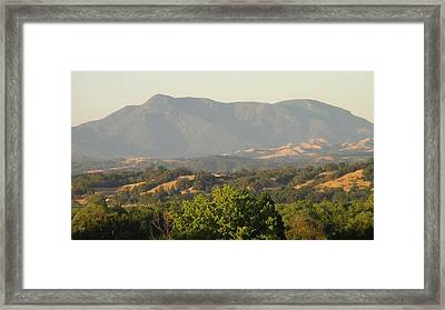 Mt. Cali Framed Print by Shawn Marlow