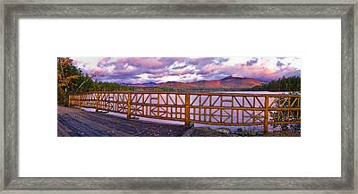 Mt Chocorua Autumn Panorama Framed Print by Jeff Sinon