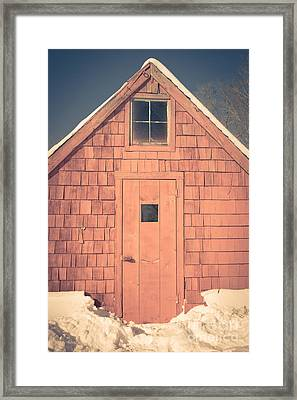 Mt. Cube Sugar Shack Orford New Hampshire Framed Print