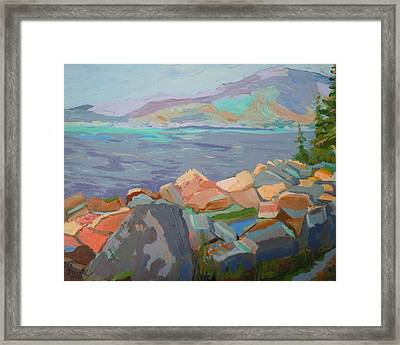 Mt. Desert From Schoodic Point Framed Print