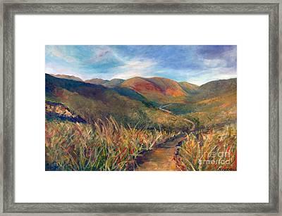 Mt. Diablo Hills Framed Print
