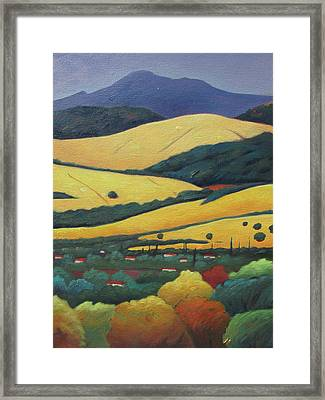 Mt. Diablo In Distance Framed Print