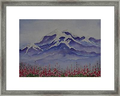 Mt. Drum Framed Print by Kathleen Keller