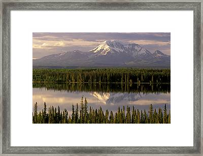 Mt Drum Over Willow Lake Wrangell-st Framed Print by Calvin Hall