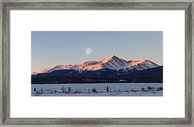 Mt. Elbert Sunrise Framed Print by Aaron Spong