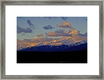 Mt Elbert Sunrise Framed Print by Jeremy Rhoades