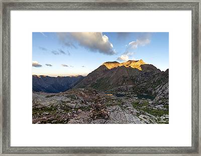 Mt. Eolus Framed Print by Aaron Spong