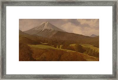 Framed Print featuring the painting Mt. Fuji by Rick Fitzsimons