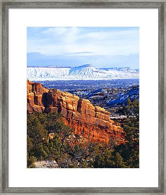 Mt. Garfield In The Distance Framed Print