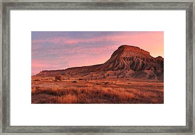 Mt Garfield Sunrise Framed Print