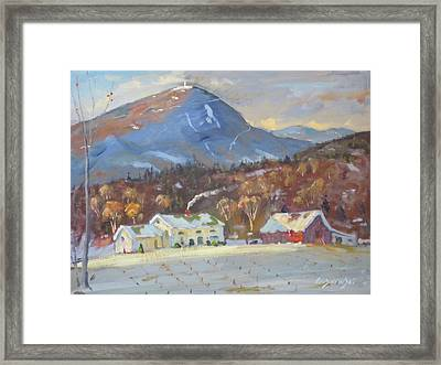 Mt Greylock From East Harbor Road Framed Print by Len Stomski