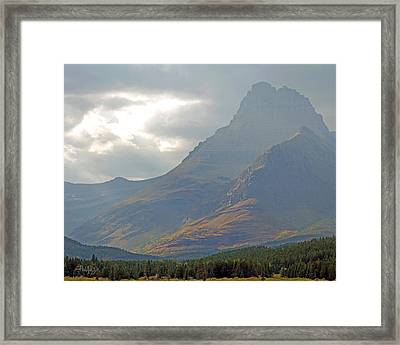 Mt Grinnell - Glacier National Park Framed Print by Jim Pavelle