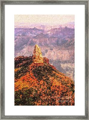 Mt Hayden North Rim Grand Canyon Framed Print