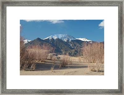 Mt. Herard And The Sand Dunes Colorado Framed Print