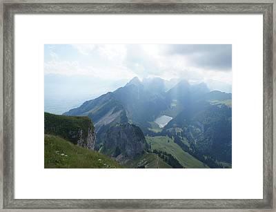 Mt. Hoher Kasten - Switzerland Framed Print by Nikki  Wang