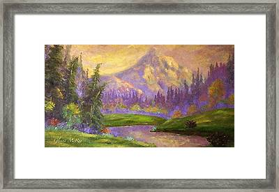 Mt. Hood At Dawn's Early Light Framed Print