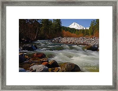 Mt. Hood Landscape Framed Print by Nick  Boren