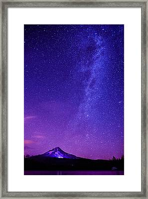Mt. Hood Milky Way 01 Framed Print by Lori Grimmett