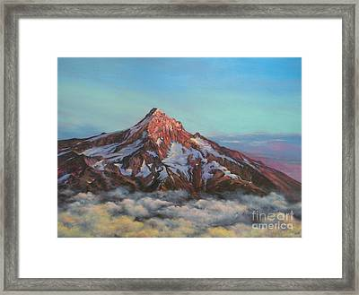Mt Hood North Face Framed Print by Jeanette French
