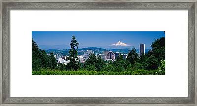 Mt Hood Portland Oregon Usa Framed Print by Panoramic Images