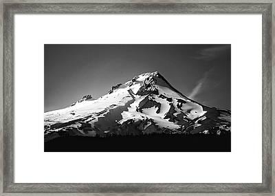 Mt. Hood Framed Print by Ron Latimer