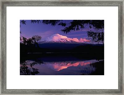 Mt. Hood Sunrise Framed Print by Ken Dietz