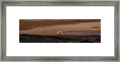 Mt Hood Sunrise Framed Print