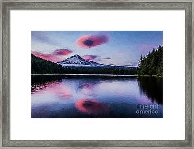 Mt Hood Sunset Framed Print