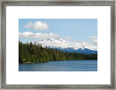 Mt Hood View From Lost Lake Framed Print by Robert  Moss