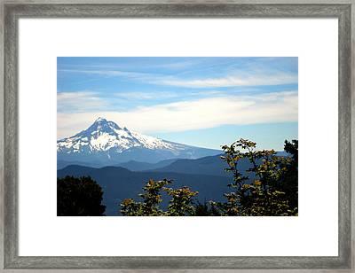 Mt. Hood View From Sherrard Point Framed Print by Lizbeth Bostrom